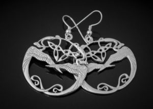 Tain Silver Heron Birds Jewellery Fine Handcrafted